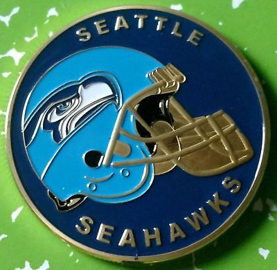 Nfl Seattle Seahawks Football Team Colorized Gld Art Round