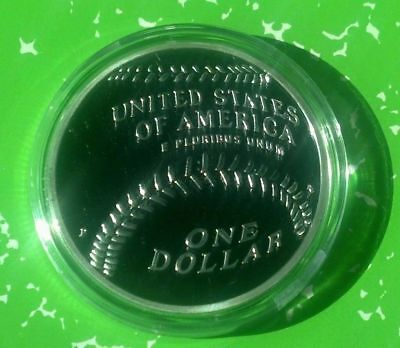 2014 Usa Major League Baseball Mlb  1 Oz Round W/ Case - Not Mint Issued