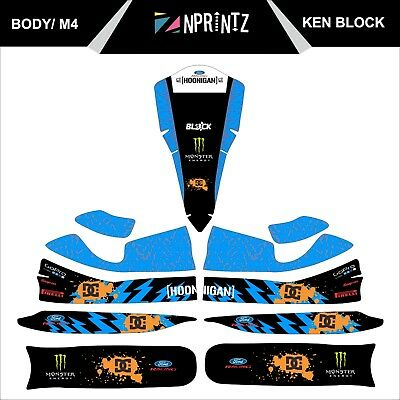 M4 Ken Block Full Kart Sticker Kit - Karting - Otk - Evk-Cadet-Rookie