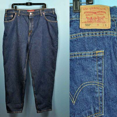 Vintage 80's Levis 550 Classic Relaxed Fit High Waist Denim Jeans Size 22 S