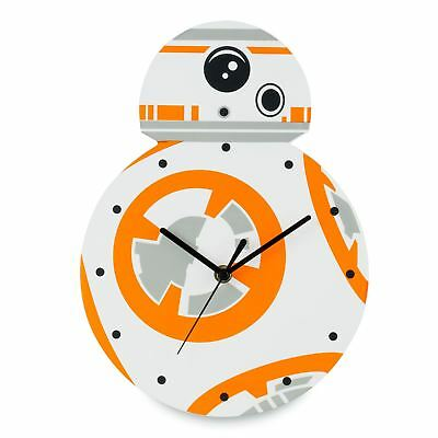 Official Star Wars Bb-8 Shaped Wall Clock Kids Bedroom By Zeon