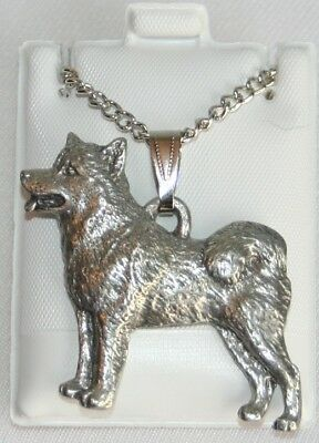 Alaskan Malamute Dog Harris Fine Pewter Pendant w Chain Necklace USA Made
