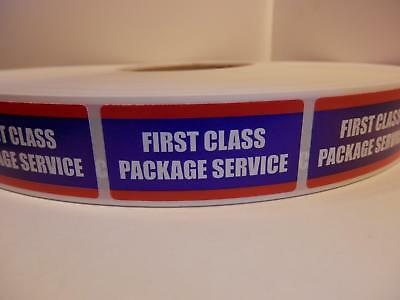 USPS FIRST CLASS PACKAGE SERVICE 1x2 Mailing Shipping Stickers Labels 500/rl