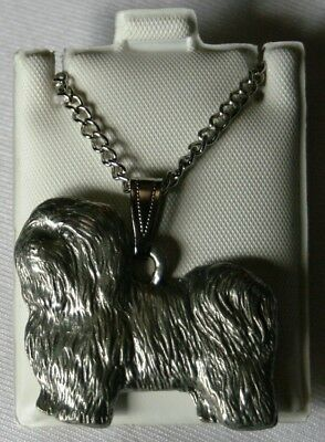 Havanese Dog Harris Fine Pewter Pendant w Chain Necklace USA Made