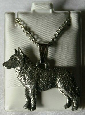 Siberian Husky Dog Harris Fine Pewter Pendant w Chain Necklace USA Made
