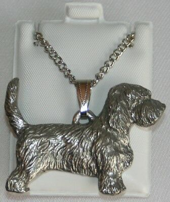 Petit Basset Dog Harris Fine Pewter Pendant w Chain Necklace USA Made