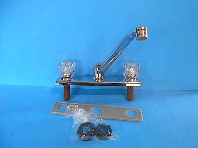 *upc Brand 2 Handle Kitchen Sink Faucet Chrome With Acrylic Knobs Cl-45014700