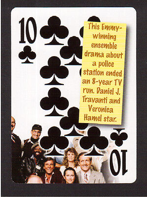Hill Street Blues TV Show Veronica Hamel Daniel Travanti Neat Playing Card #7Y8