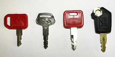 Heavy Equipment Key Set 4 Keys CAT John Deere &  Komatsu