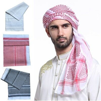 Black and White Arab Arafat Shemagh Keffiyeh Scarf Neck Wrap Palestine Mens Gift