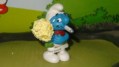 Smurfs Get Well Soon Smurf w/ Thermometer 2012 Celebration Series Display Figure