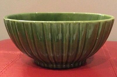Vintage Mid Century Haeger #4020 Oval Planter Green Made in USA. L11