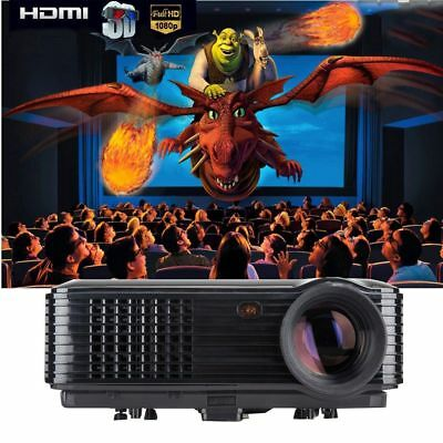 3200 Lumens HD 1080P LED Video Projector 3D Home Theater Cinema TV/USB/VGA/SD