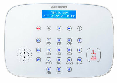 MEDION P85731 MD 90731 Alarmsystem Zentrale Smart Home Display WLAN Bluetooth