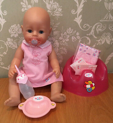 zapf creation baby born interactive girl doll & accessories - drink cries wets