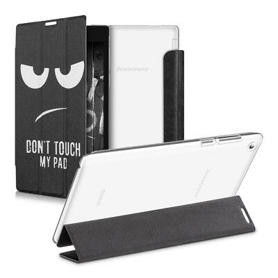 Smart Cover Für Lenovo Tab 2 A7-30 Don't Touch My Pad Weiß Transparenter