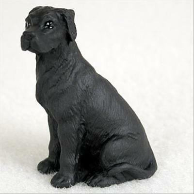 Great Dane Black UnCropped Ears Dog Tiny One Miniature Small Painted Figurine