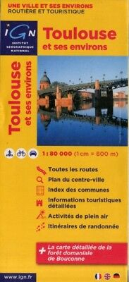 Toulouse & surr. ign (Ign Map) (Map), Institut Geographique Natio. 9782758524069