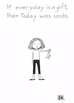 Mary Engelbreit-TODAY WAS SOCKS AS A GIFT-Blank Greeting Card/Envelope-NEW!