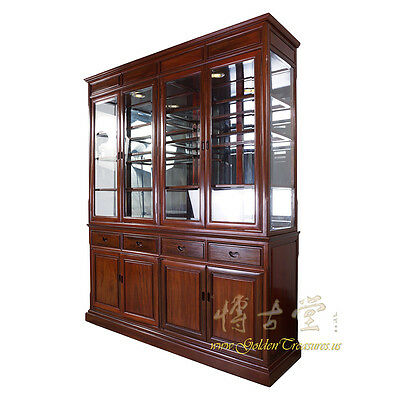 Vintage Chinese Rosewood China Cabinet 17LP22