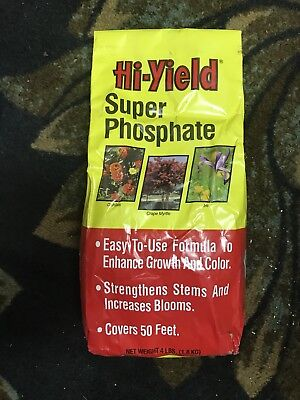 Hi-Yield  Super Phosphate  Plant Food  For Outdoor Plants 4 lb.