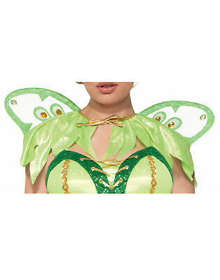 Miss Pixie Womens Adult Tinker Bell Fairy Costume Green Capelet