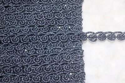 """5 yards navy blue white sewing non stretch upholstery BRAID trim 1//4/"""" wide ws0"""