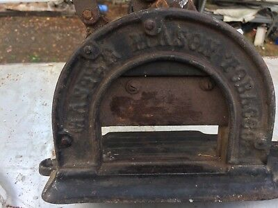 Antique Cast Iron Rock City & Master Mason Tobacco Cutter
