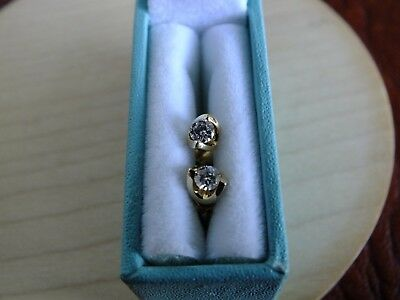 Best Quality 18Ct Yellow Gold Solitaire Diamond Earrings - Very Sparkly Studs