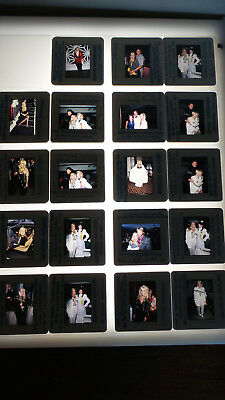 Catherine Hickland W/celebrities Vintage Lot Of  35Mm Slide Transparency Photo