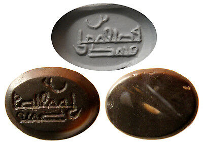PCW-CS077-EARLY ISLAMIC KUFIC SIGNATURE STAMP RING STONESEAL.8th-10th Century AD