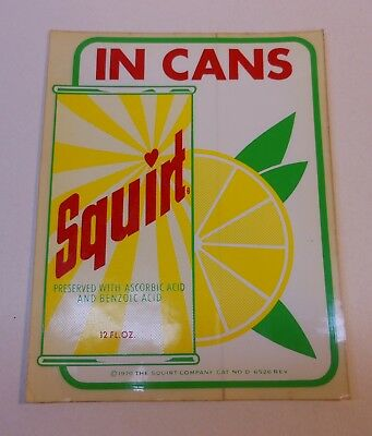 """Vintage Squirt 1970 """"Squirt in Cans"""" Stick on Decal"""
