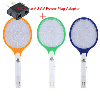 Rechargeable LED Electric Bug Pest Fly Mosquito Killer Swatter Zapper Racket AU&