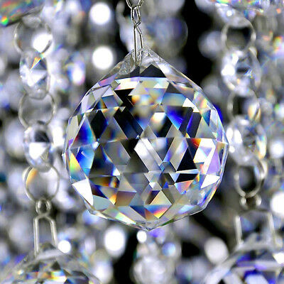 Feng Shui Hanging Crystal Ball 20mm Sphere Prism Rainbow Sun Catcher Clear Gifts