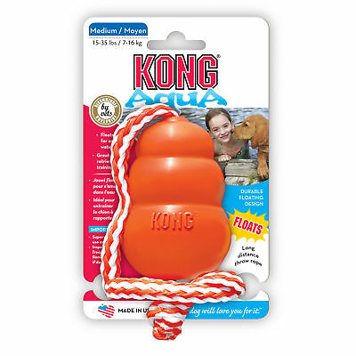 KONG COOL AQUA Floating Retriever Dog Fetch Toy and Trainer Medium (CK2)