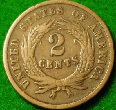 USA 1864 2 cent with Large Motto