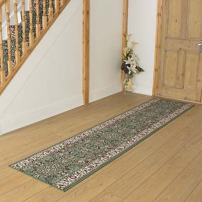 Persian L / Green - Hallway Carpet Runner Rug Traditional Hall Extra Long Cheap
