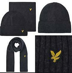 Lyle and Scott Men's Beanie and Scarf 2 In 1 Boxed Gift Set New With Tags