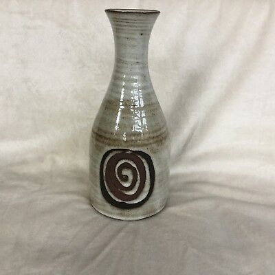 "1970's Retro Briglin Swirl Design 8.75"" Vase Very Good Condition"