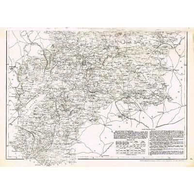 WORCESTERSHIRE & GLOUCESTERSHIRE (South) - Antique County Map c.1863 by Weller