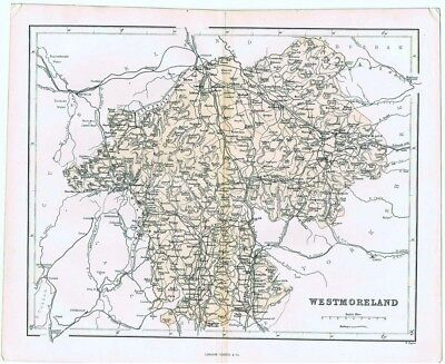 WESTMORELAND Antique County Map 1868 by Virtue