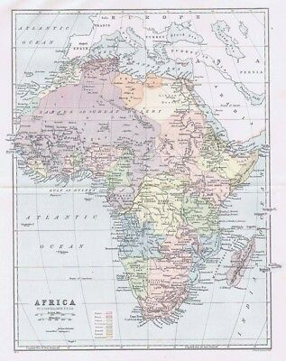 AFRICA Antique Map 1905 by Bartholomew