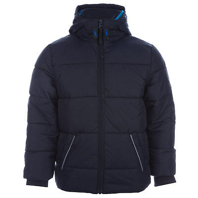 Junior Boys Harvey And Jones Thomas Padded Jacket In Navy-Zip Fastening-Pockets