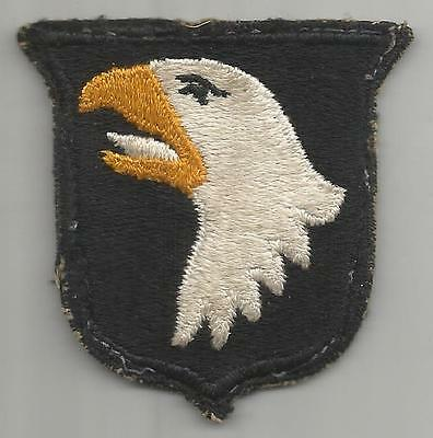 White Tongue WW 2 US Army 101st Airborne Division Greenback Patch Inv# K387