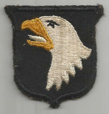 White Tongue WW 2 US Army 101st Airborne Division Greenback Patch Inv# K386