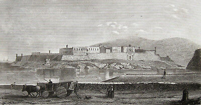 Malta Fort Ricasoli Original 1848 Knights Grand Harbour Marsamxett-Hafen St.elmo