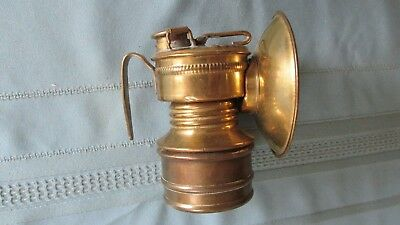 Brass Shanklin Manufacturing Two Date Guy's Dropper Miners Carbide Cap Lamp