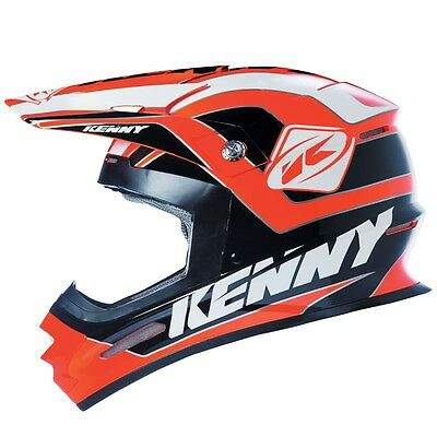 Casque Track Orange Fluo / Noir - KENNY - Norme CE - Cross - enduro - Jetski