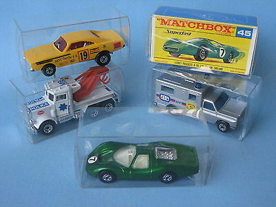 Lesney Matchbox Superfast Clear Plastic Storage Display Boxes x 75 Toy Model Car