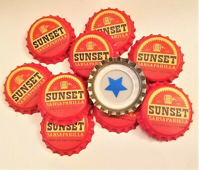 Set of 10 Fallout Unofficial Sunset Sarsaparilla Bottle Caps 1 Blue Star set #4